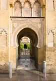 Main access to Cathedral Mosque Patio in Cordoba royalty free stock photo