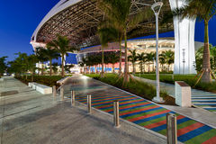 Main access to new Marlins Park Stock Image