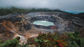 Main active crater of the volcano of Poas stock video