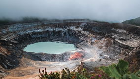 Main active crater of the volcano of Poas stock video footage