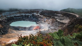 Main active crater of the volcano of Poas