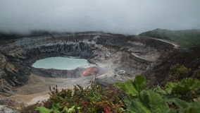 Main active crater of the volcano of Poas stock footage
