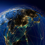 Main air routes in Asia Stock Photography