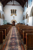 Main aisle. Dating from the seventh century AD, the nave of the anglo-saxon christian church of All Saints at Brixworth, Northamptonshire (formerly the saxon Stock Images