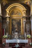 Main altar in Basilica of Eger, Hungary. Main altar in Basilica of Eger, St John Cathedral in Hungary stock photography