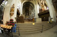 The main altar in the cathedral Stock Photo