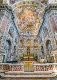 Main altar in the Church of Santa Caterina in Palermo. Sicily, southern Italy. royalty free stock image
