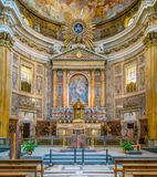 Main Altar In The Church Of The Jesus In Rome, Italy. Royalty Free Stock Photography