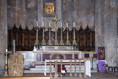 The main altar of the Pantheon. Rome Stock Images