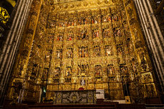 Main Altar in Seville Cathedral Royalty Free Stock Image