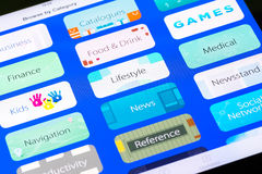 Main Apple Application Store Categories Royalty Free Stock Image