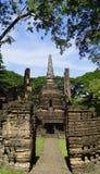 Main approach to Historical Pagoda Wat Nang phaya temple Stock Image