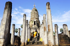 Main approach to Sukhothai temple world heritage Stock Image