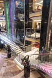 Main Atrium staircase of the P&O liner Ventura. MV Ventura is a Grand-class cruise ship of the P&O Cruises fleet. The ship was built by Fincantieri at their royalty free stock photography