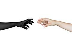 main atteignant avec la réflexion Image libre de droits