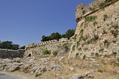 The main attraction in Rethymno is the huge Venetian Fortezza Castle Stock Photography