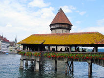 The main attractions of Lucerne, Switzerland. stock images