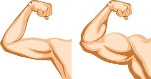 Main avant et après la forme physique Images stock