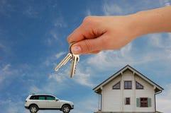 Main avec des clés Photo stock