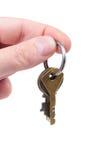 Main avec des clés Photographie stock