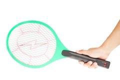 Main avec des moustiques de tueur Images libres de droits