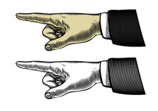 Main avec diriger le doigt Image stock