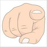 Main avec l'indication par les doigts d'index à la visionneuse Vecteur dirigeant l'index de main de doigt Photos libres de droits