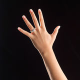 Main avec la boucle Photo libre de droits