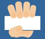 Main avec la carte Image libre de droits