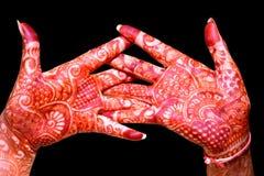Main avec la conception de Heena photos libres de droits
