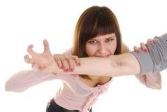 Main avec la contusion photo libre de droits