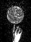 Main avec la sphère Illustration de Vecteur