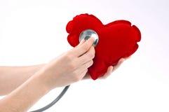 Main avec le coeur Image stock