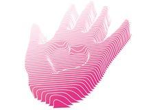 Main avec le coeur, vecteur Images stock