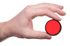 Main avec le filtre de couleur 3 Images stock