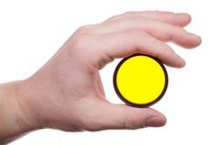 Main avec le filtre de couleur 4 Images stock