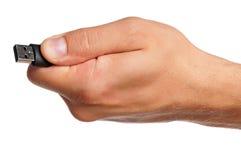 Main avec le lecteur instantané Image stock