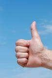 Main avec le numéro 1 de geste Photographie stock libre de droits