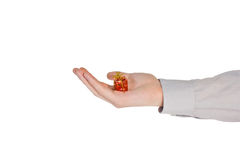 Main avec le présent Photo stock