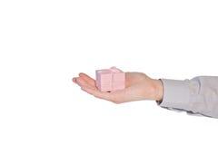Main avec le présent Images stock