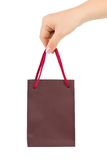 Main avec le sac à provisions Photographie stock libre de droits