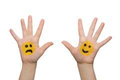 Main avec le sourire photo libre de droits