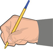 Main avec le stylo Images stock