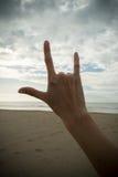 Main avec le symbole d'amour Image libre de droits