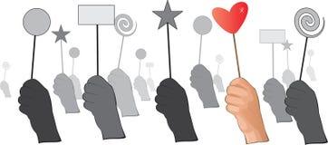 Main avec le symbole de l'amour Image libre de droits