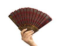 Main avec le ventilateur Photos libres de droits