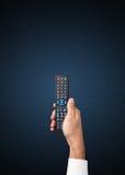 Main avec à télécommande Image libre de droits