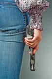 Main avec un canon Photos libres de droits