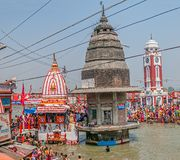 Main Bathing Ghat in Haridwar Stock Photography