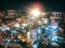 Main Bazar. View of Main Bazar square stock photo